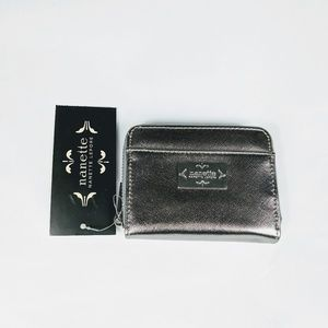 NWT Nanette Lepore Silver Wallet